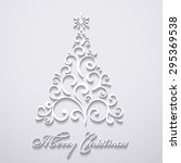 vector new year tree  ... | Shutterstock .eps vector #295369538