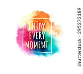watercolor splash banner with... | Shutterstock .eps vector #295373189