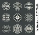 luxury insignias retro design... | Shutterstock .eps vector #295377818