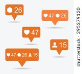 like  follower  comment icons.... | Shutterstock .eps vector #295379120
