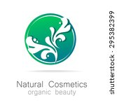 natural cosmetics   organic... | Shutterstock .eps vector #295382399