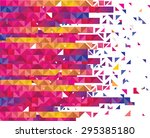 composition of colorful bricks | Shutterstock .eps vector #295385180