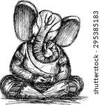 Lord Ganesha Sketch  Monochrome