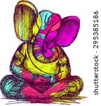 Lord Ganesha Sketch  Color