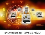 computer network | Shutterstock . vector #295387520