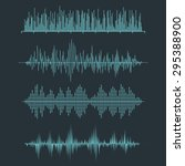 vector sound waveforms. audio... | Shutterstock .eps vector #295388900