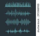 vector sound waveforms. audio... | Shutterstock .eps vector #295388900