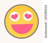 falling in love   cartoon... | Shutterstock .eps vector #295390514