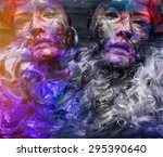 Psychedelic Image Of A Mask  O...