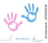 Twin Baby Girl And Boy Hand...