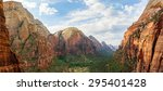 scenic valley at zion national... | Shutterstock . vector #295401428