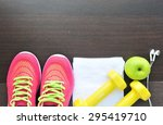 sport shoes with set for sports ... | Shutterstock . vector #295419710
