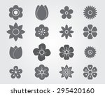 flower icon silhouettes set... | Shutterstock .eps vector #295420160