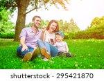family outdoor   enjoying the... | Shutterstock . vector #295421870
