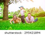 family outdoor   enjoying the... | Shutterstock . vector #295421894