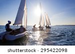 beautiful view of sailing... | Shutterstock . vector #295422098