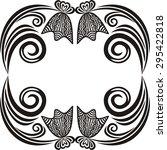 beautiful floral pattern frame...   Shutterstock .eps vector #295422818