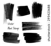 set of black watercolor vector... | Shutterstock .eps vector #295423688