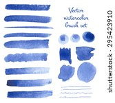 set of watercolor vector brush... | Shutterstock .eps vector #295423910