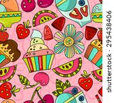 seamless pattern can be using... | Shutterstock .eps vector #295438406