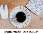omputer gadget is in the office ... | Shutterstock . vector #295451924