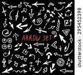 arrows doodle set  hand drawn... | Shutterstock .eps vector #295452398