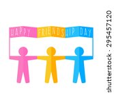 colored paper men day with a...   Shutterstock .eps vector #295457120