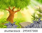 game landscape with tropical... | Shutterstock .eps vector #295457300