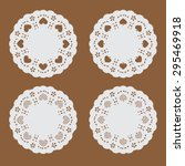 coaster paper perforated paper... | Shutterstock .eps vector #295469918