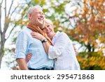 senior man and woman  husband... | Shutterstock . vector #295471868