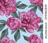 vector floral seamless pattern... | Shutterstock .eps vector #295481849