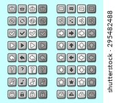stone game icons buttons icons... | Shutterstock . vector #295482488