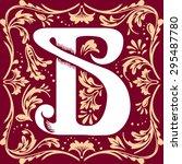 letter b vector image in the... | Shutterstock .eps vector #295487780