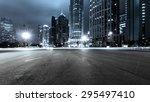 the light trails on the modern...   Shutterstock . vector #295497410