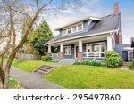 modern northwest home with... | Shutterstock . vector #295497860