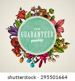 vintage vector card with... | Shutterstock .eps vector #295501664