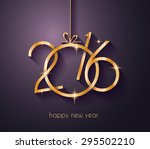 2016 merry chrstmas and happy... | Shutterstock .eps vector #295502210