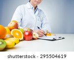 professional nutritionist... | Shutterstock . vector #295504619