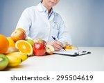professional nutritionist... | Shutterstock . vector #295504619
