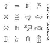 utilities icons. vector... | Shutterstock .eps vector #295505450