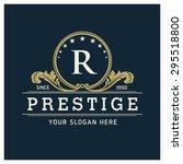 r letter logo  monogram design...   Shutterstock .eps vector #295518800