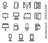flat linear vector icons for... | Shutterstock .eps vector #295521590