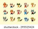 cute raccoon boy vector set | Shutterstock .eps vector #295525424