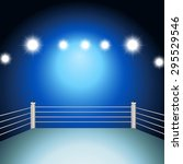 boxing ring with illuminated...   Shutterstock .eps vector #295529546