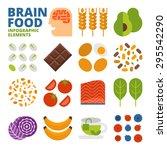 brain food infographic elements | Shutterstock .eps vector #295542290