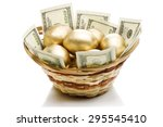 Golden Eggs And Dollars In A...