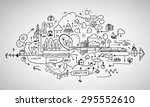 background image with sketches... | Shutterstock . vector #295552610