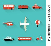 transportation travel. air... | Shutterstock .eps vector #295553804