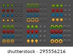 colorful rating icons vector...