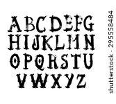 hand drawn watercolor alphabet. ... | Shutterstock .eps vector #295558484